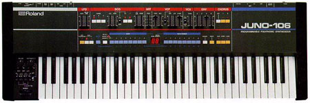 Roland Juno 106 polyphonic synthesiser