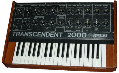 Powertran Trancendent 2000 monophonic analogue synthesiser