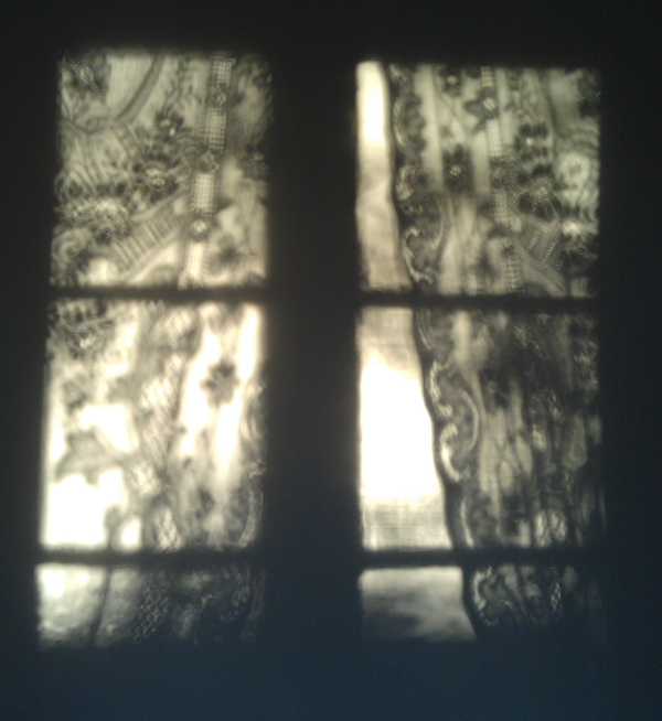 Shadow of net curtain