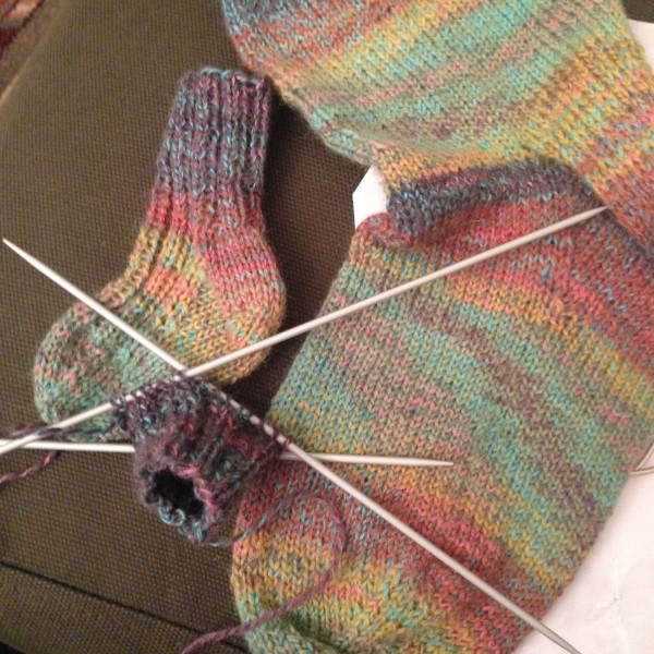 Adult sock and baby sock