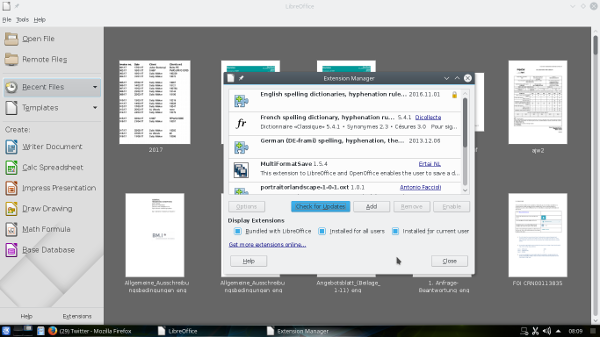 LibreOffice 5.3.3 running on the author's Debian GNU/Linux laptop
