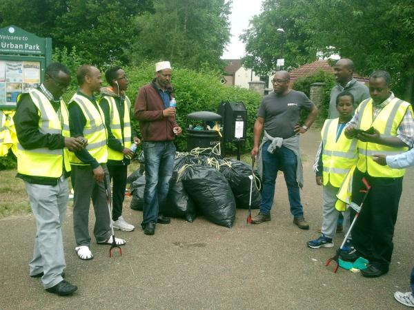 litter pickers and litter picked