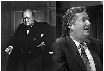 Winston Churchill and Piers Moron composite image
