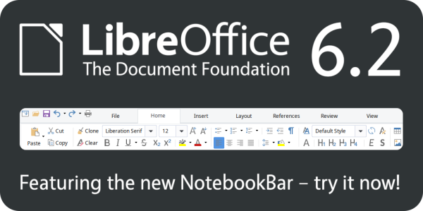 LibreOffice 6.2 banner