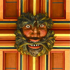Green Man ceiling boss, Rochester Cathedral