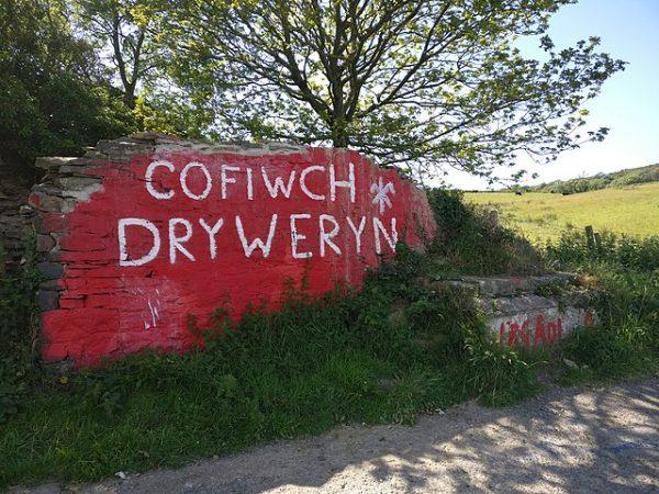 Cofiwch Dryweryn mural after 2019 restoration