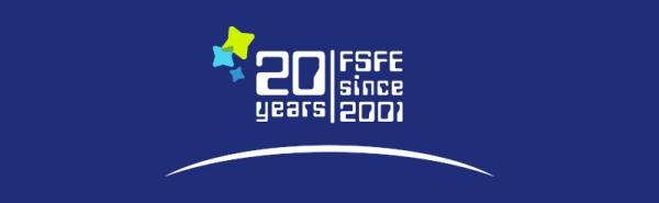 FSFE 20th anniversary graphic