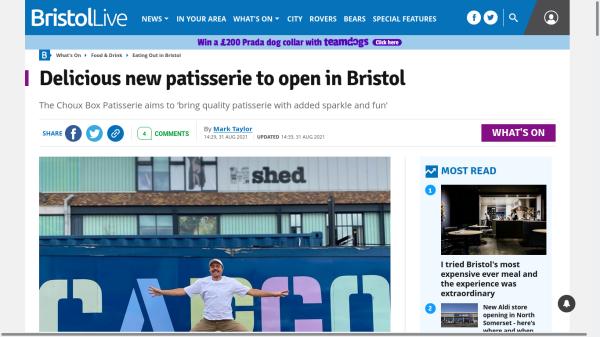 Headline reads: Delicious new patisserie to open in Bristol