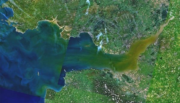 Landsat 7 photo of Bristol Channel